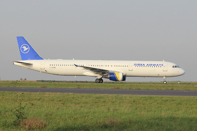 Jubba Airways A321 F-GYAN (CDG)