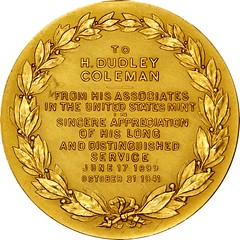 U.S. Mint Retirement Medal reverse