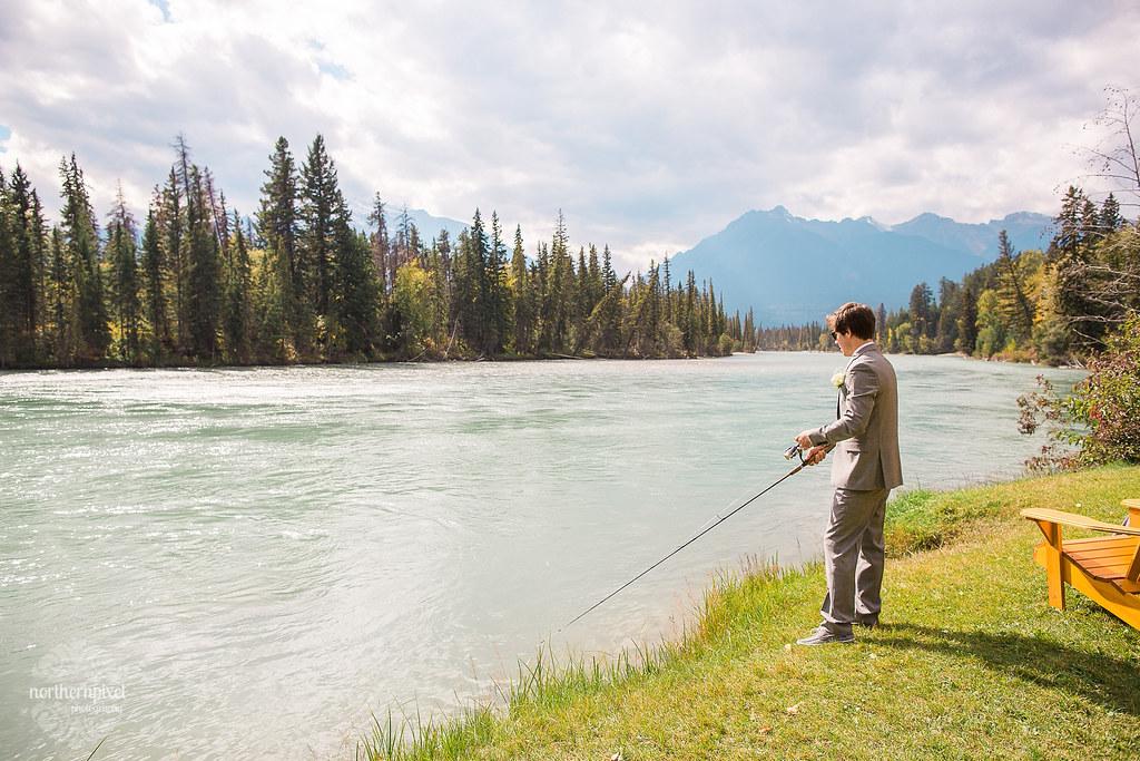 Tete Jaune Lodge BC Wedding Fishing Fraser River