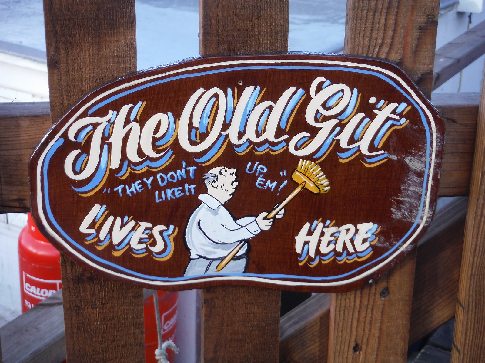 The Old Git Lives Here, Smallgains Boatyard, Canvey Island SWC Walk 258 Benfleet Circular (via Canvey Island)