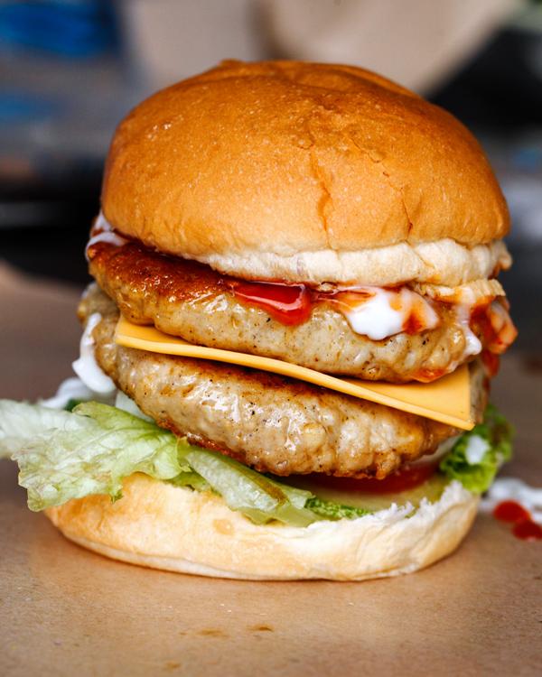 Big Papa Double Chicken Cheese Burger