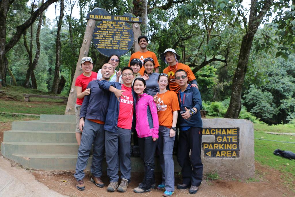 Start of Machame Route to Kilimajaro