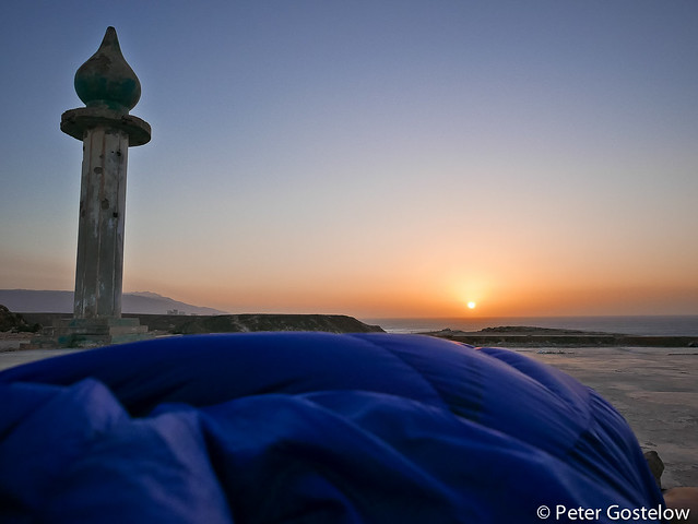Sunrise from my sleeping bag
