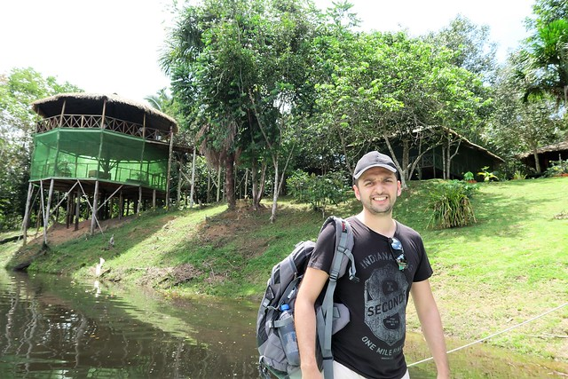 zaid outside amazon tupana lodge