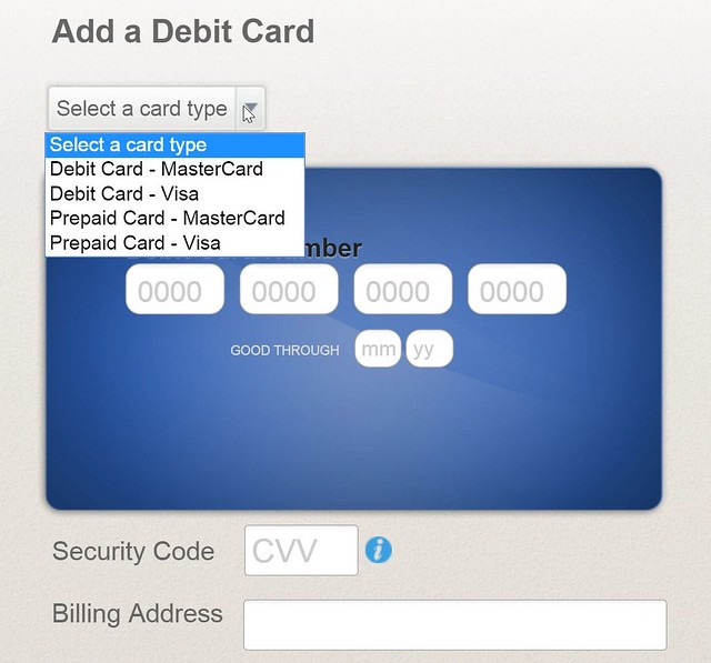 Popmoney: Add Debit Card As Source of Funds