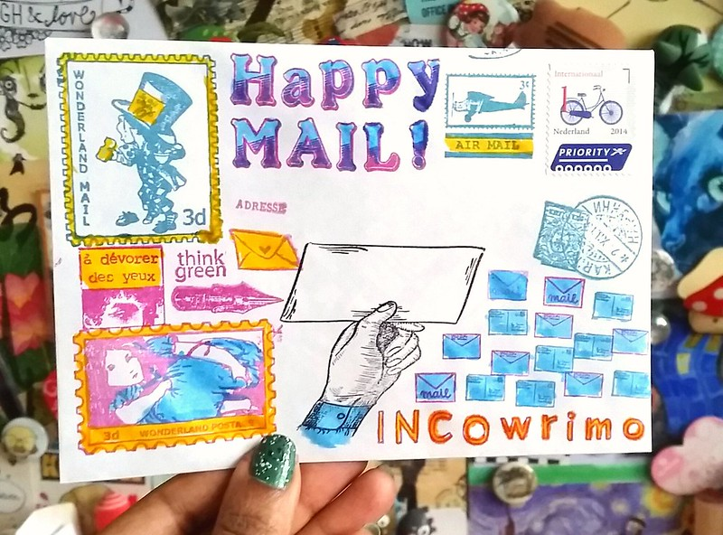 Incowrimo mail art envies