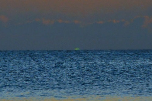 ocean sunset beach stlucia greenflash