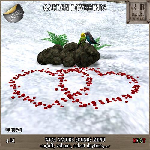 Thrift Shop EXCLUSIVE NEW RELEASE 50% OFF !!! *RnB* Garden Lovebirds -nature sounds menu- (copy)