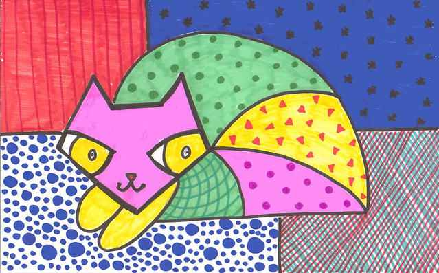 britto cat - viv