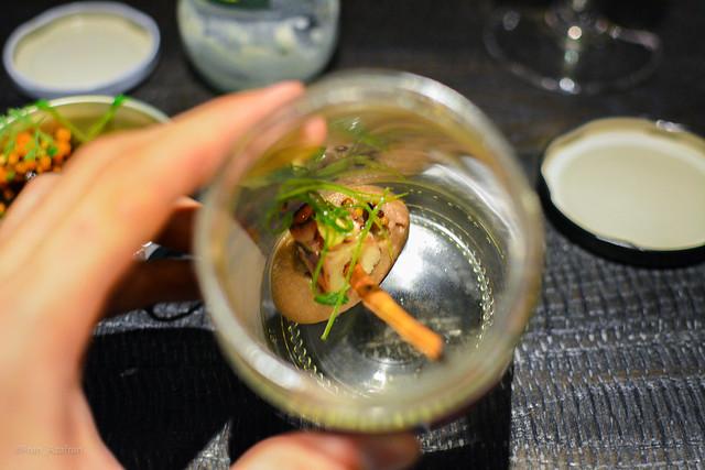 Jar: Octopus, eggplant, smoking cinnamon