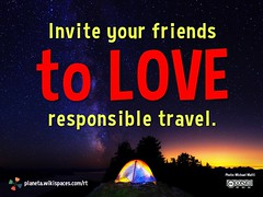 Invite your friends to love responsible travel
