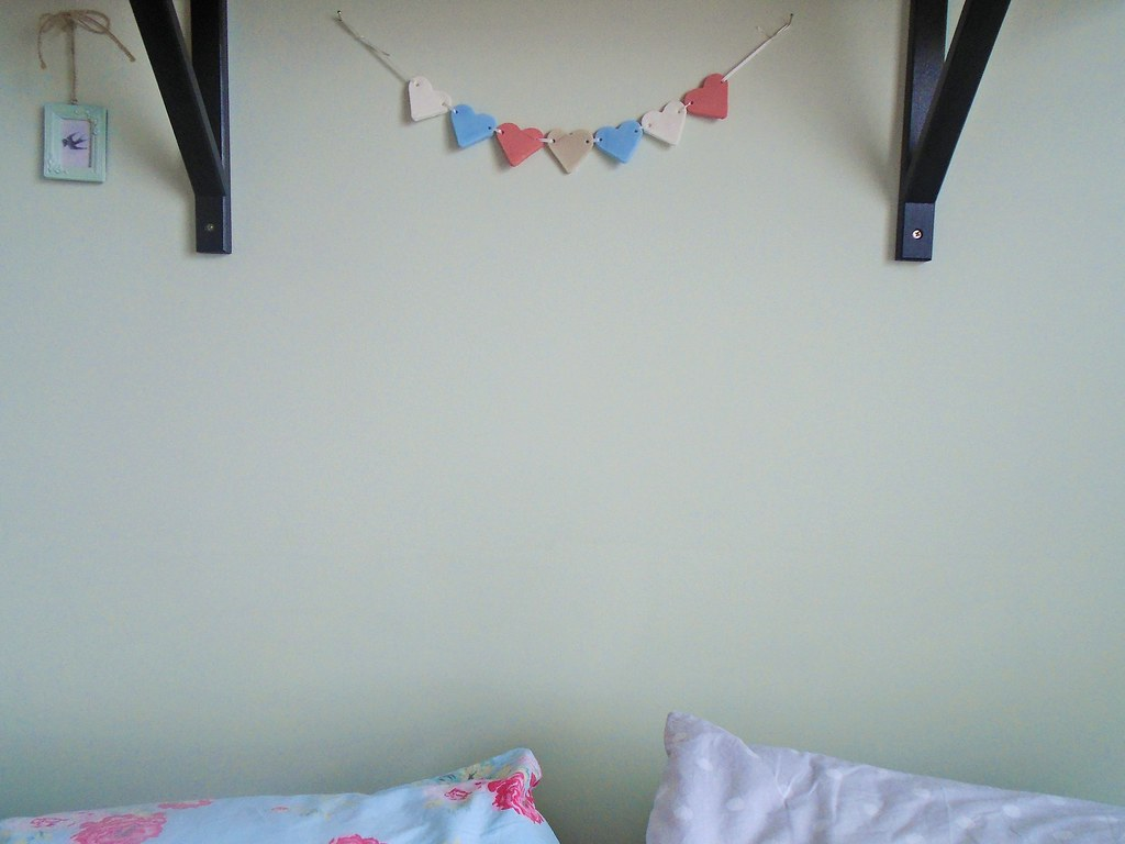 air dried clay heart bunting
