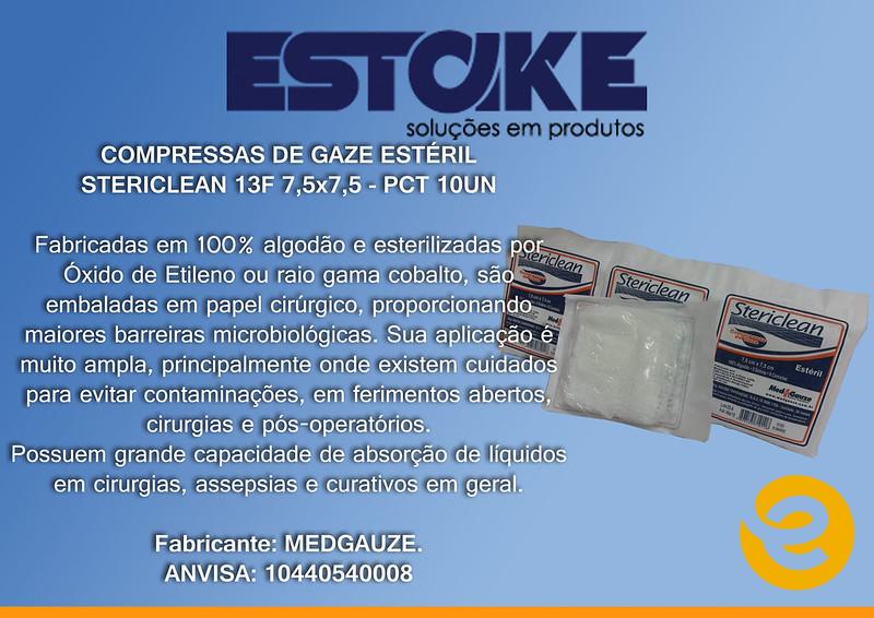 Compressa Esteril 10un