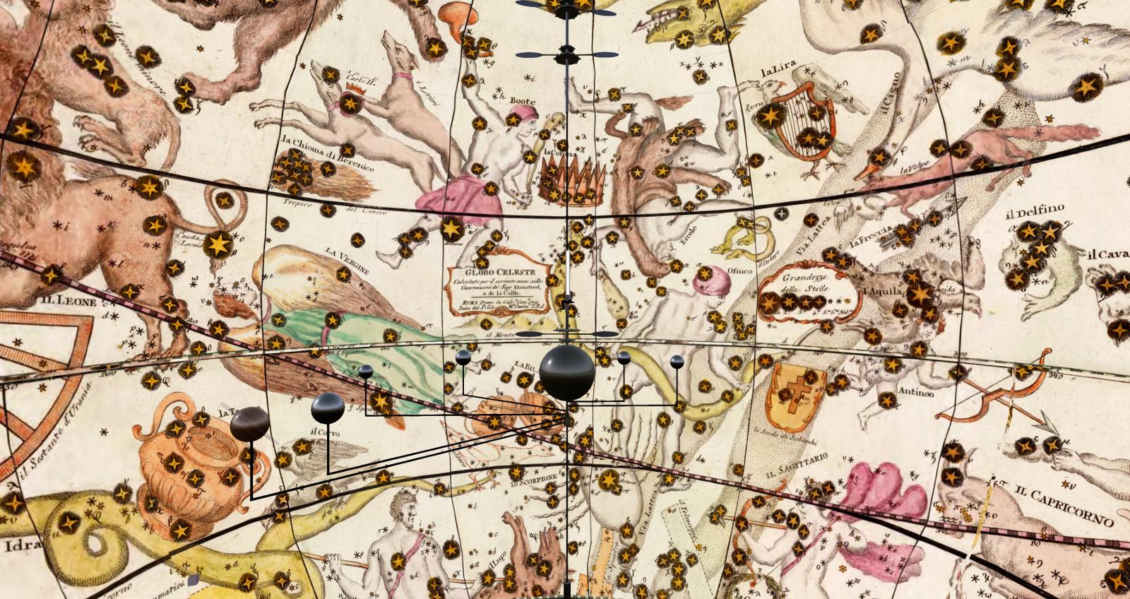 The celestial globe seen from inside