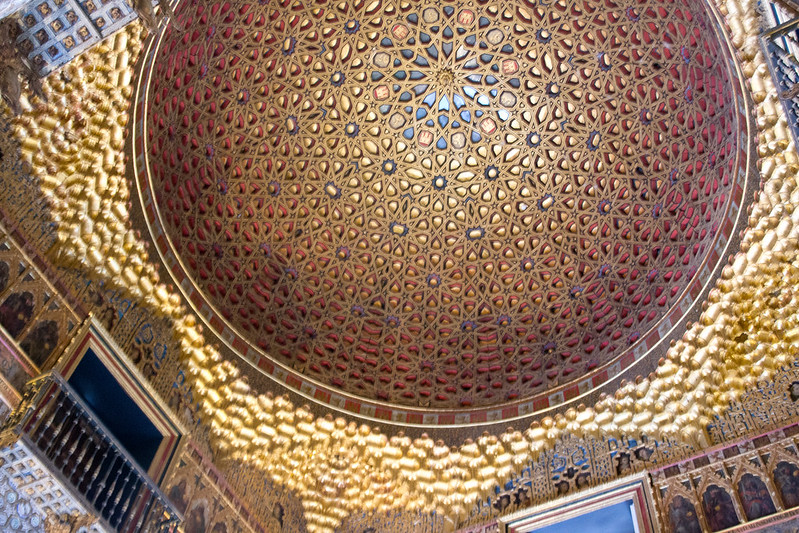 Golden Dome of the Hall of Ambassadors, Alcazar of Seville, Spain | packmeto.com