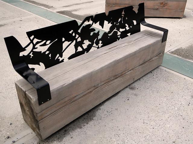 A bench in Dinant, Belgium