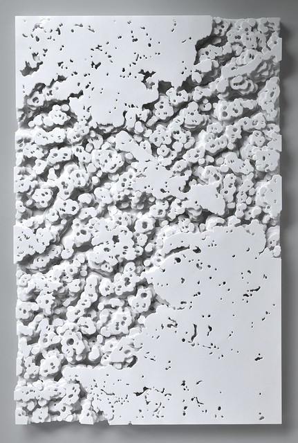 Olga Skorokhod_Lava Rocks_hand-cut paper Sculpture_30 x 20 x 1.25 in.
