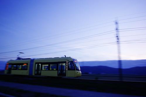sunset train tram fukui panning 福井 k3 kibo えちぜん鉄道 smcpentaxda15mmf4edallimited