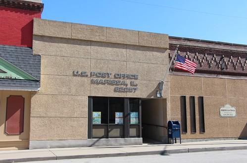 illinois postoffice americanflag usps marissa uspostoffice unitedstatespostoffice 62257 marissail