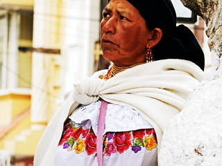 Local woman in Otavalo market