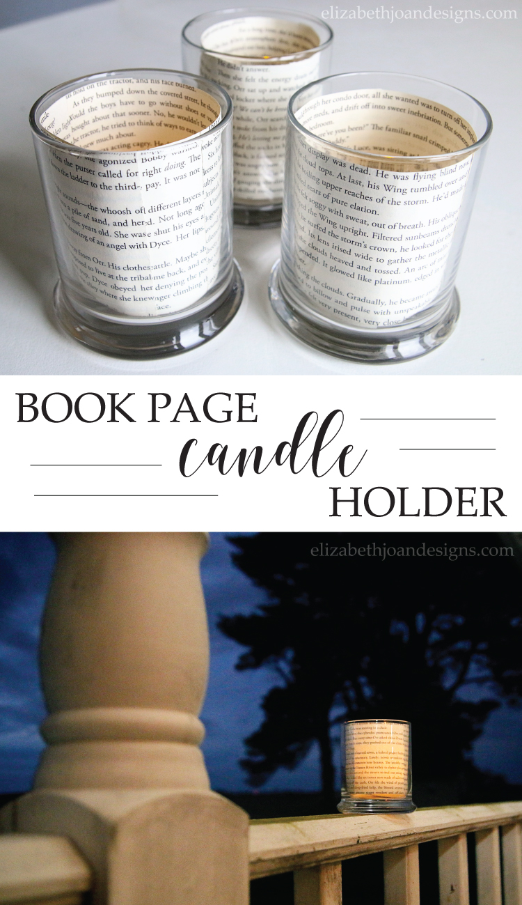 Book Page Candle Holders an easy 5 minute craft