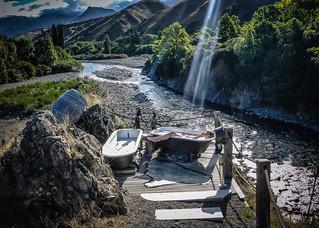 Al Fresco Evening Bathtime in Waihopai Valley, New Zealand
