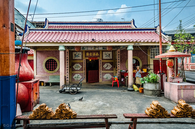 Small Chinese temple in Bangkok