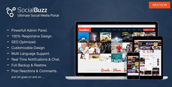 SocialBuzz v1.2 - Ultimate Social Media Portal
