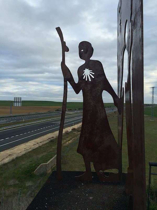 Pilgrim Art outside Fromista