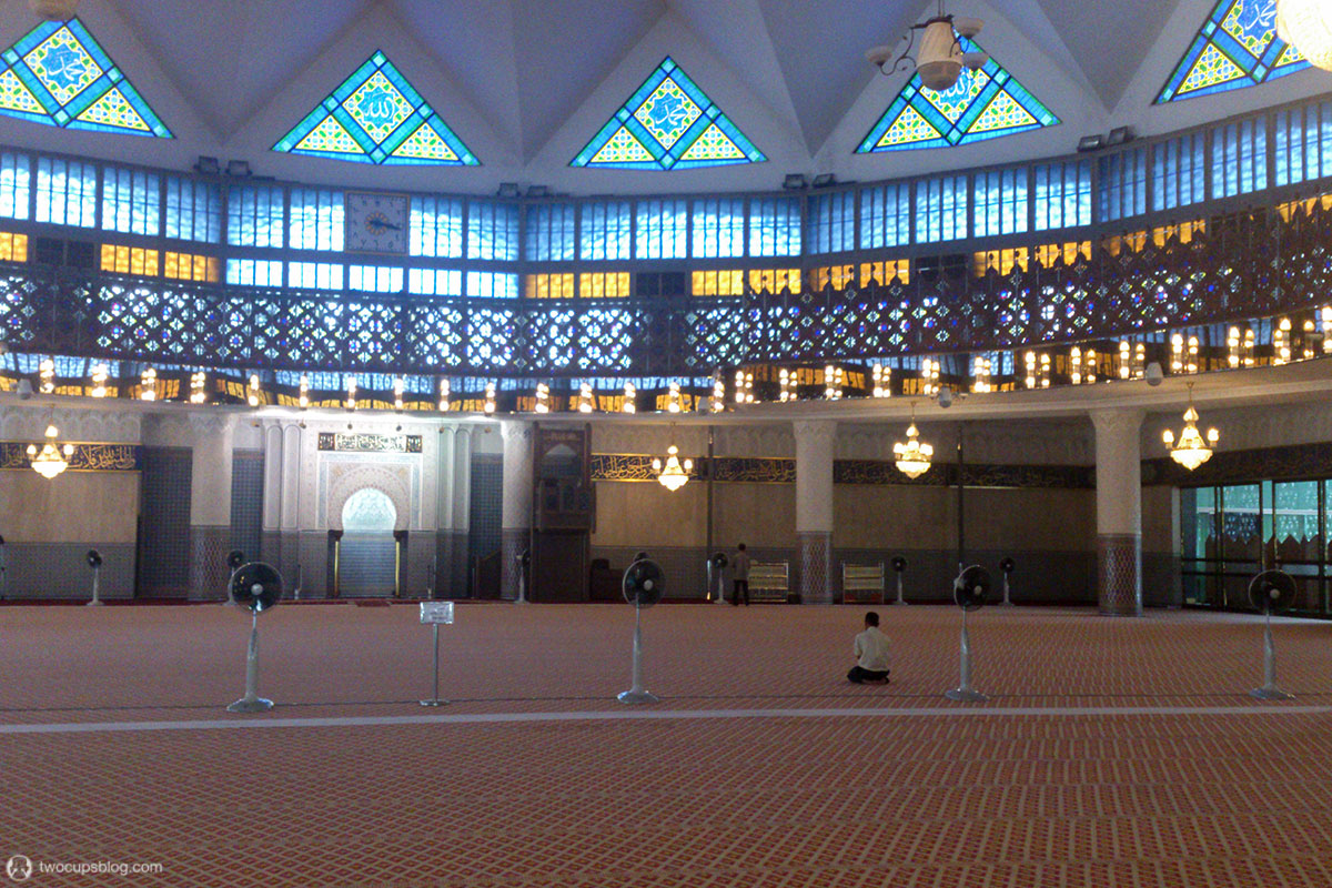 Main Praying Hall in the National Mosque of Malaysia