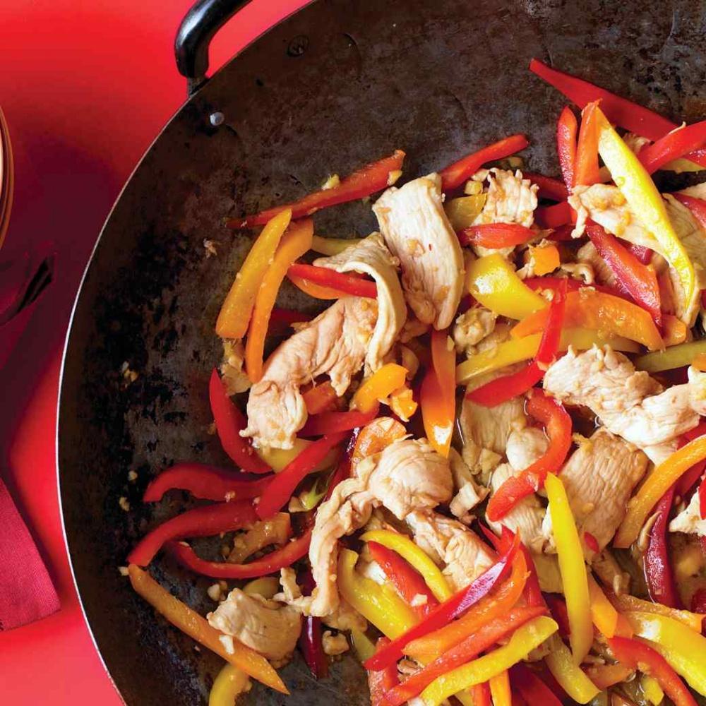 easy chicken recipes - Stir-Fried Honey-Ginger Chicken