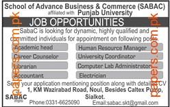 School of Advance Business&Commerce Jobs 2016