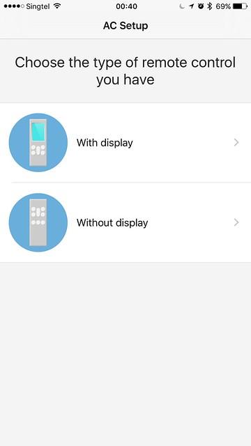 tado iOS App - AC Setup - Remote Control Type