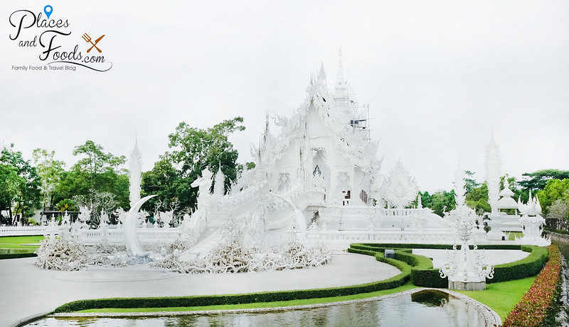 chiang rai white temple wide side shot