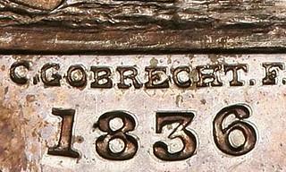 1836 Gobrecht Dollar Judd 58 closeup