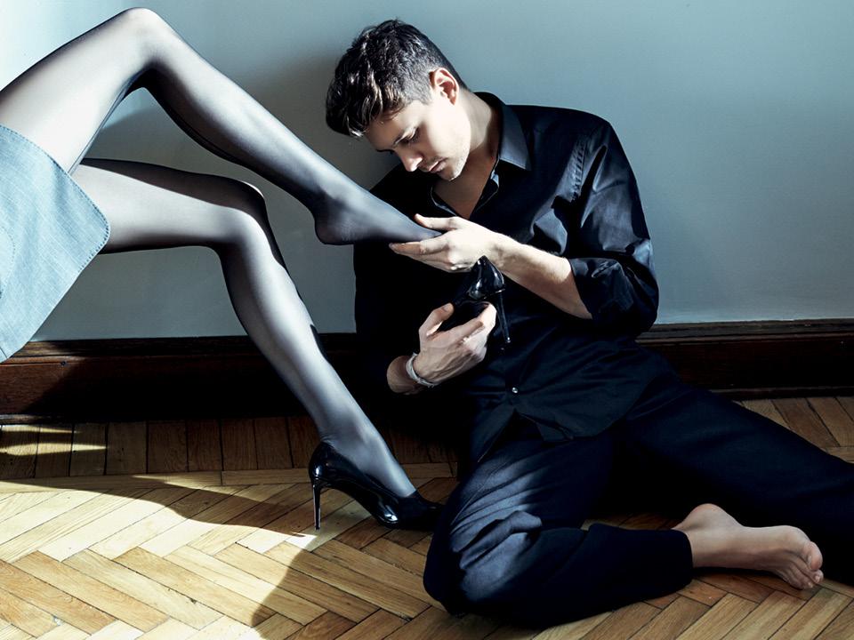 Milos Bikovic and Sasha Luss by Nikolay Biryukov for Vogue Russia February 2016