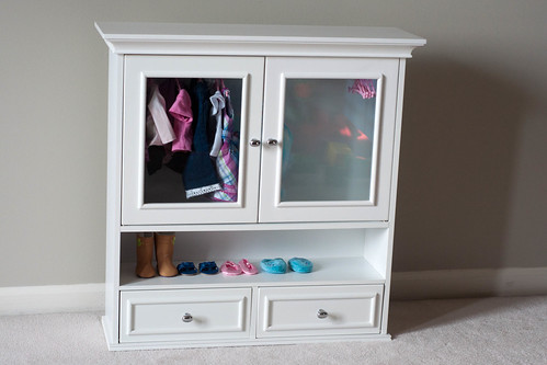 "Bathroom Cabinet 18"" Doll Clothes Wardrobe Storagee"