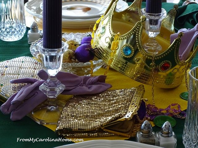Mardi Gras Tablescape | From My Carolina Home