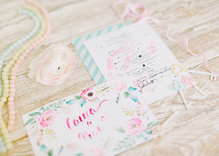 Whimsical wedding invite | Modern Whimsical Wedding Inspiration Full of Colour | itakeyou.co.uk