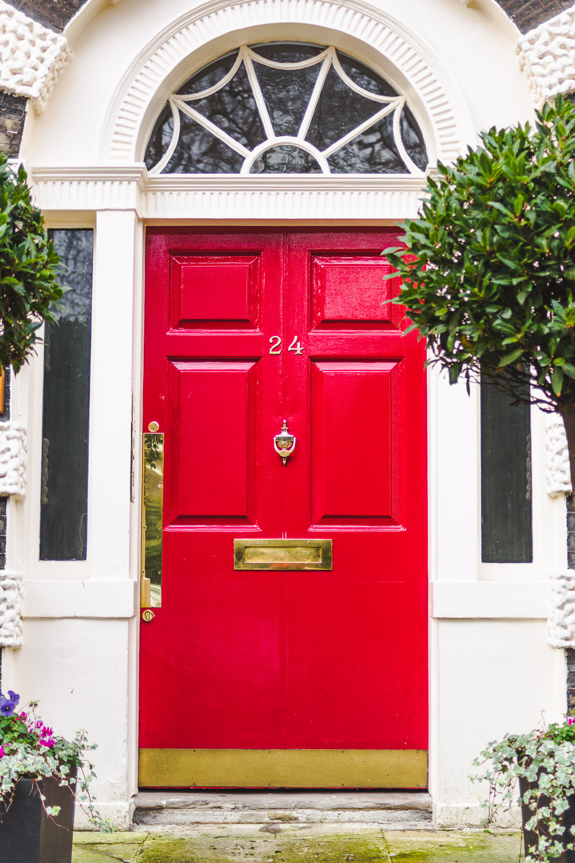 bright red door bedford square