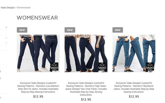 Bootstrap Fashion custom jeans choices