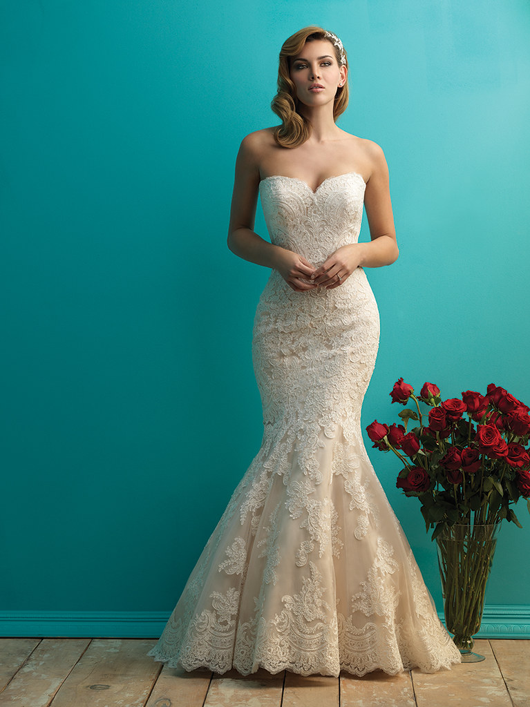 Allure Bridal style 9250 champagne wedding dress | itakeyou.co.uk