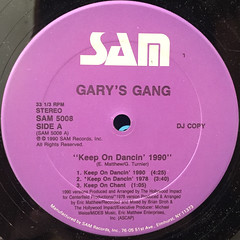 GARY'S GANG:KEEP ON DANCIN' 1990(LABEL SIDE-A)