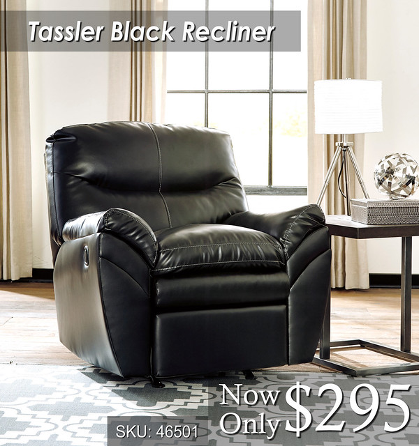 Tassler Black Recliner