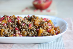 roasted butternut squash, lentil & farro salad…