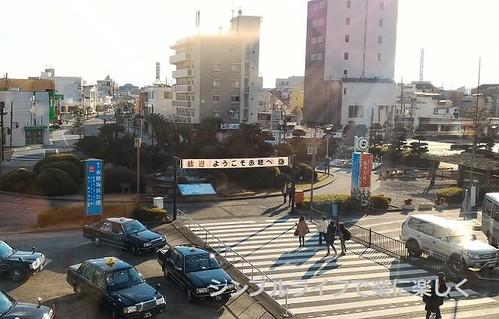 青春18兵庫、播州赤穂駅前ロータリー