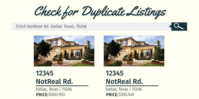 Check for duplicate listings | Prevent Rental Scams