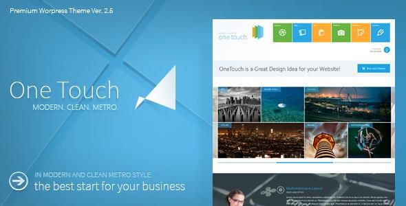 One Touch v2.7.7 - Multifunctional Metro Stylish Theme