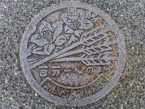 Yoshida Hiroshima, manhole cover 3 (広島県吉田町のマンホール3)