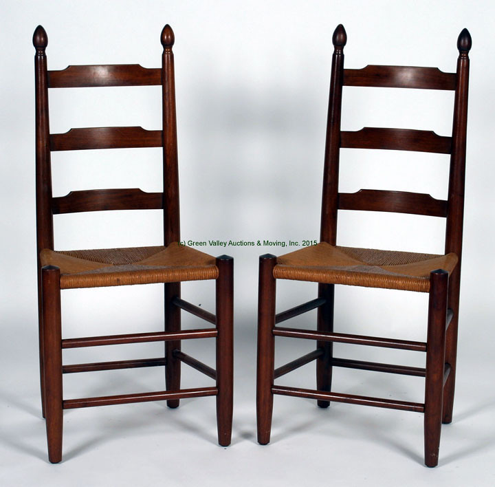 8 Clore Ladder Back Chairs W/ Rush Seats $907.50   9/11/15